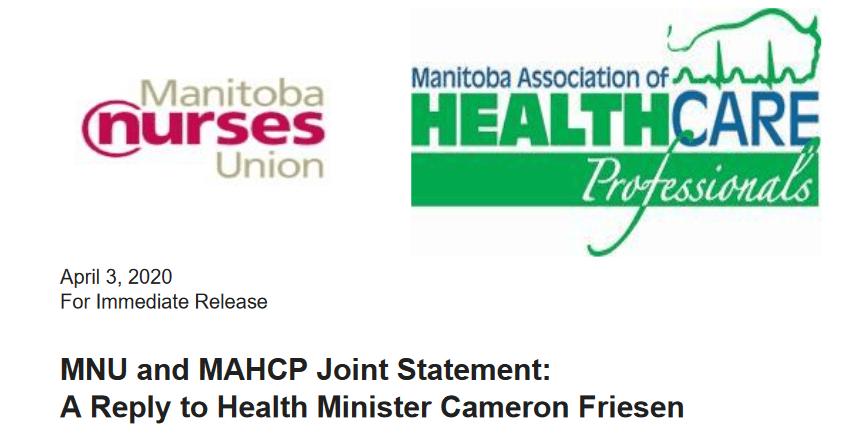 MAHCP-MNU joint statement